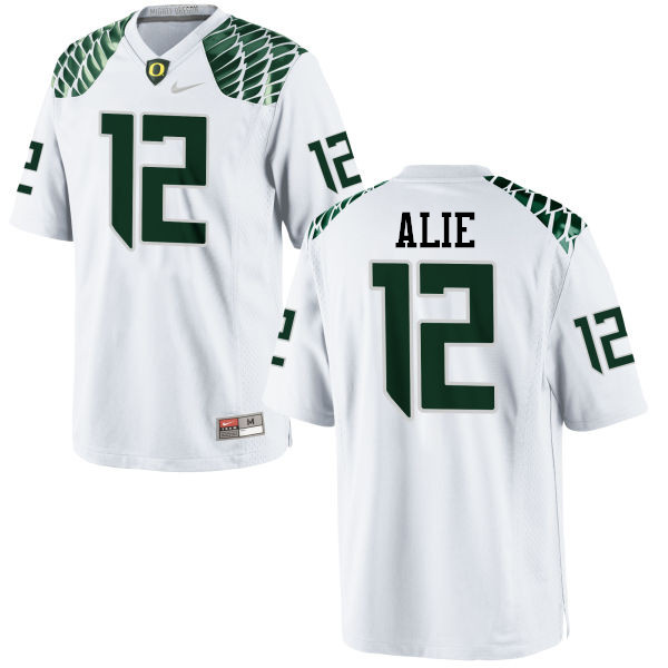 Men #12 Taylor Alie Oregon Ducks College Football Jerseys-White
