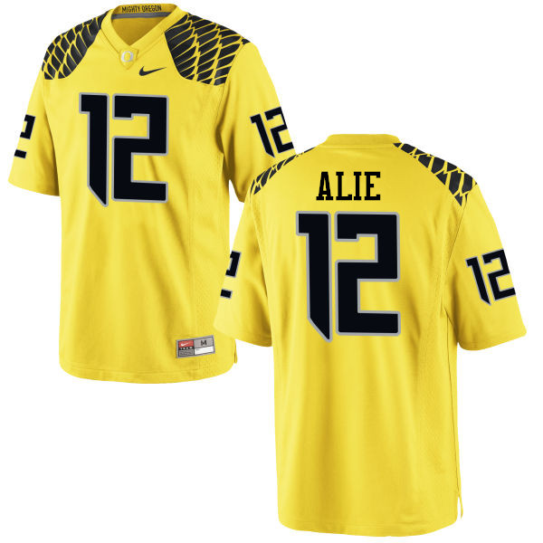 Men #12 Taylor Alie Oregon Ducks College Football Jerseys-Yellow