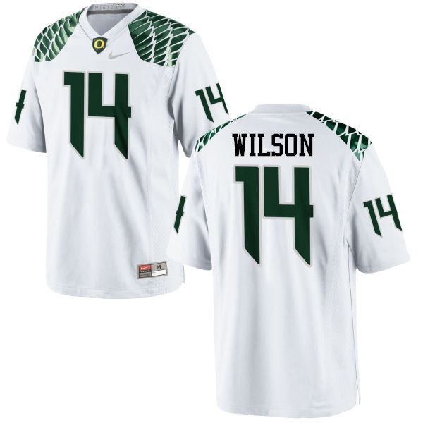 Men #14 Terry Wilson Oregon Ducks College Football Jerseys-White