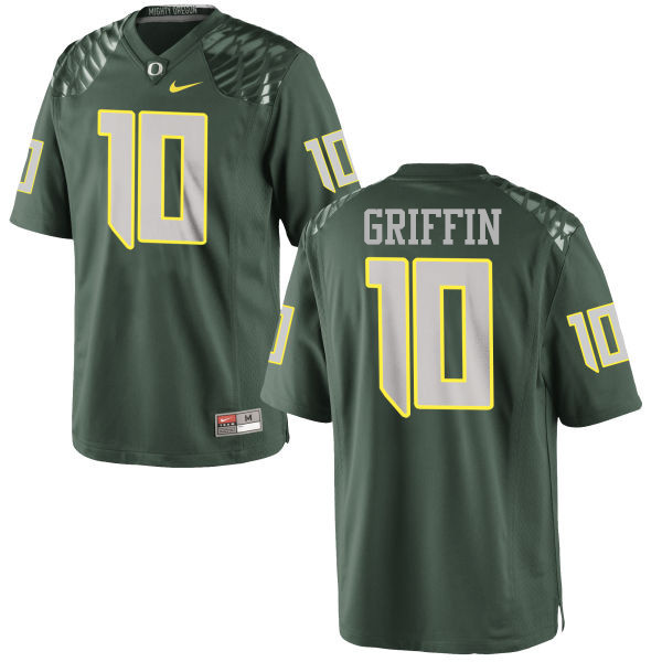 Men #10 Ty Griffin Oregon Ducks College Football Jerseys-Green