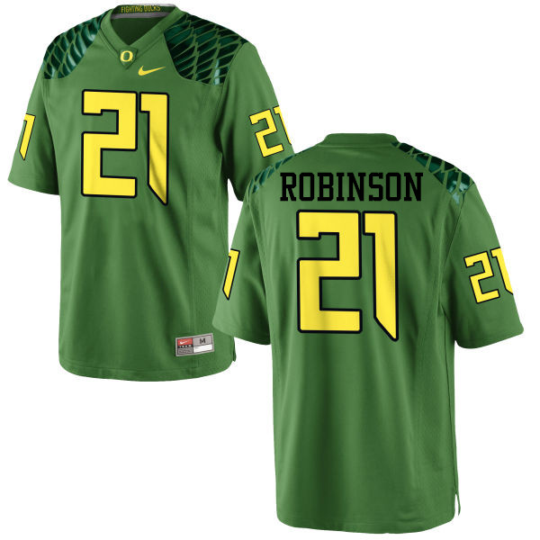 Men #21 Tyree Robinson Oregon Ducks College Football Jerseys-Apple Green