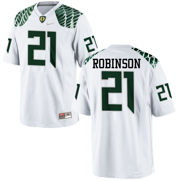Men #21 Tyree Robinson Oregon Ducks College Football Jerseys-White