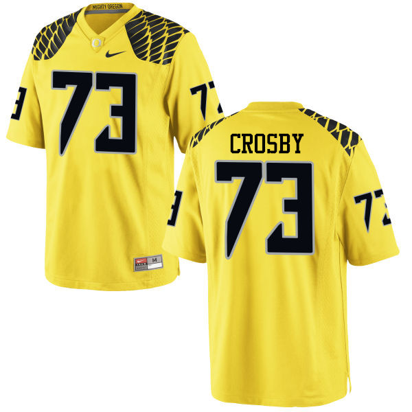 Men #73 Tyrell Crosby Oregon Ducks College Football Jerseys-Yellow