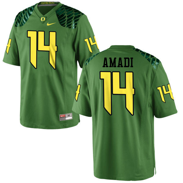 Men #14 Ugo Amadi Oregon Ducks College Football Jerseys-Apple Green