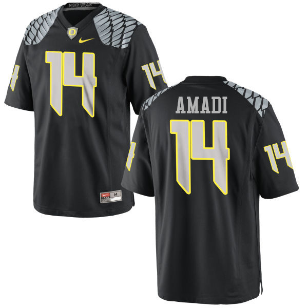 Men #14 Ugo Amadi Oregon Ducks College Football Jerseys-Black