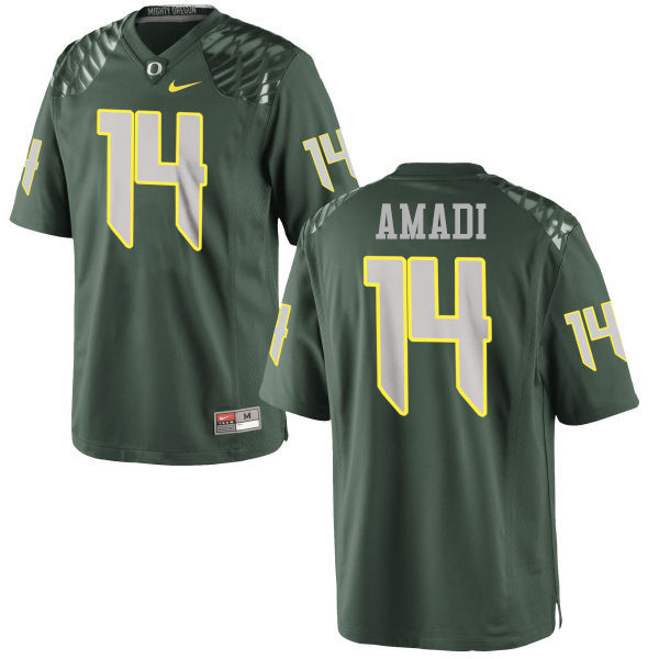 Men #14 Ugo Amadi Oregon Ducks College Football Jerseys-Green