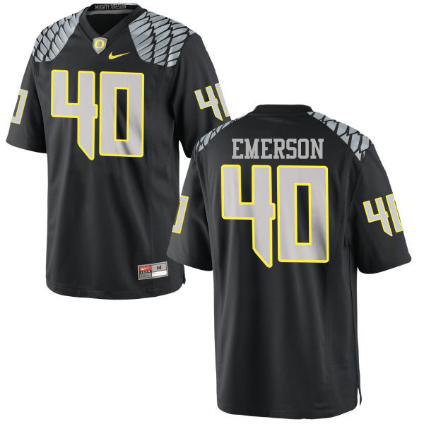 Men #40 Zach Emerson Oregon Ducks College Football Jerseys-Black