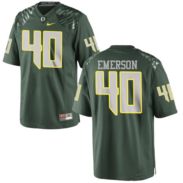 Men #40 Zach Emerson Oregon Ducks College Football Jerseys-Green