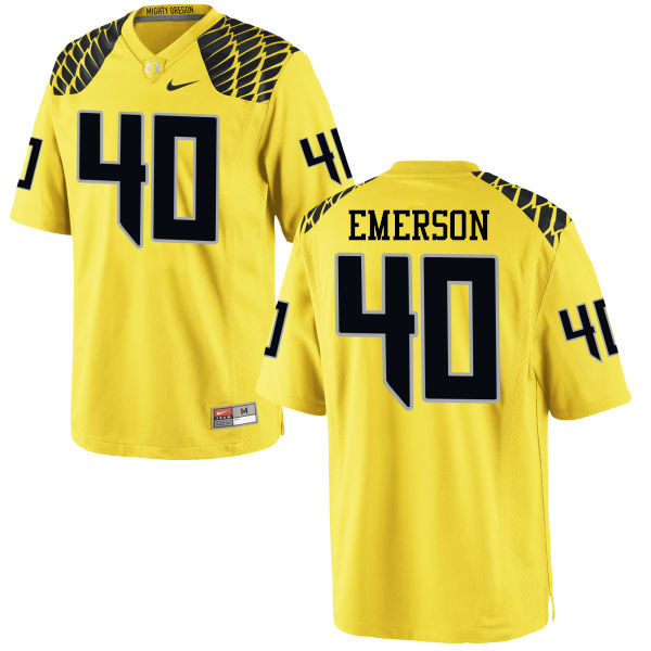 Men #40 Zach Emerson Oregon Ducks College Football Jerseys-Yellow